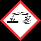 symboles danger corrosif