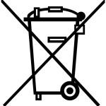 symbole poubelle barree