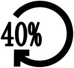 logo taux de matières recyclées utilisées