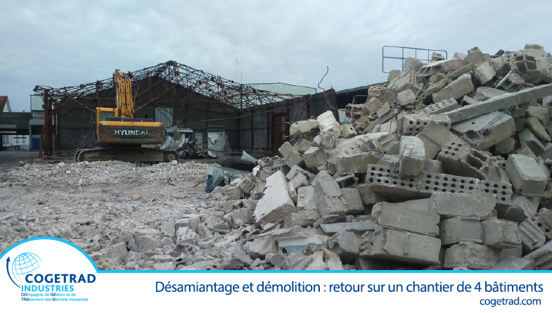 Désamiantage et démolition de bâtiment industriel